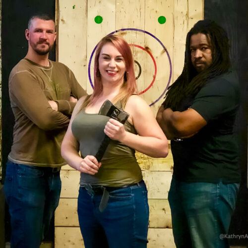Things to do in Toronto with friends - Axe throwing at BATL Toronto Port Lands