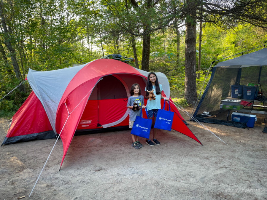 Kids Learn to Camp at Six Mile Provincial Park