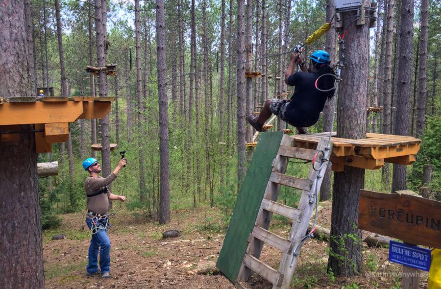 Treetop Trekking Ganaraska with Kevin and Chris