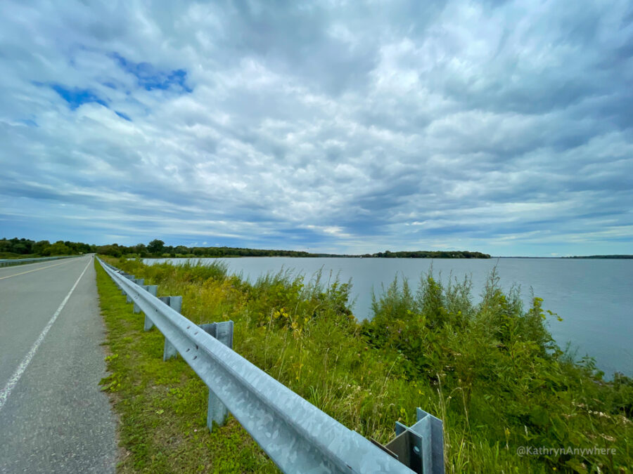 Causeway at Long Sault Parkway, Macdonnell Island to Mille Roches Island