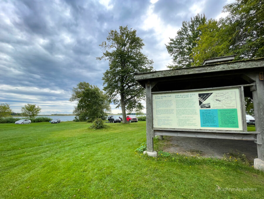 Diving Club on Long Sault Parkway, Macdonnell Island, Save Ontario Shipwrecks