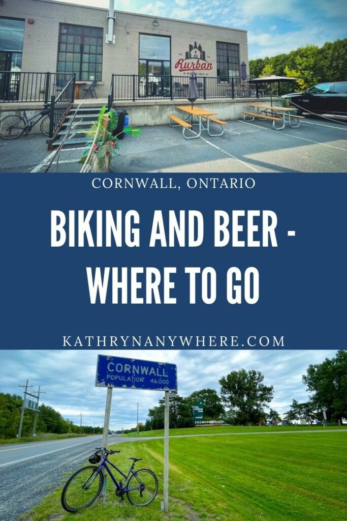 Will Bike For Beer! Beer and biking from brewery to brewery in Cornwall Ontario through Ingleside, Long Sault Parkway and Waterfront Trail.