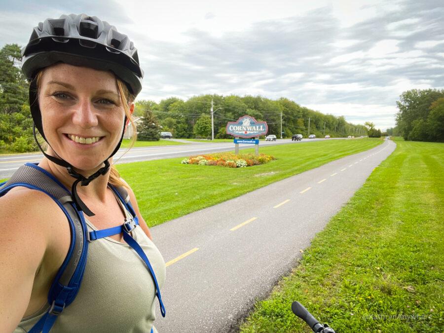 Will bike for beer! selfie stop Biking from Humble Beginnings Brewery in Ingleside to Rurban Brewery in Cornwall Ontario