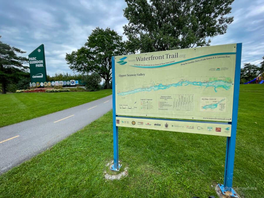 Waterfront Trail Map at Guidon Park